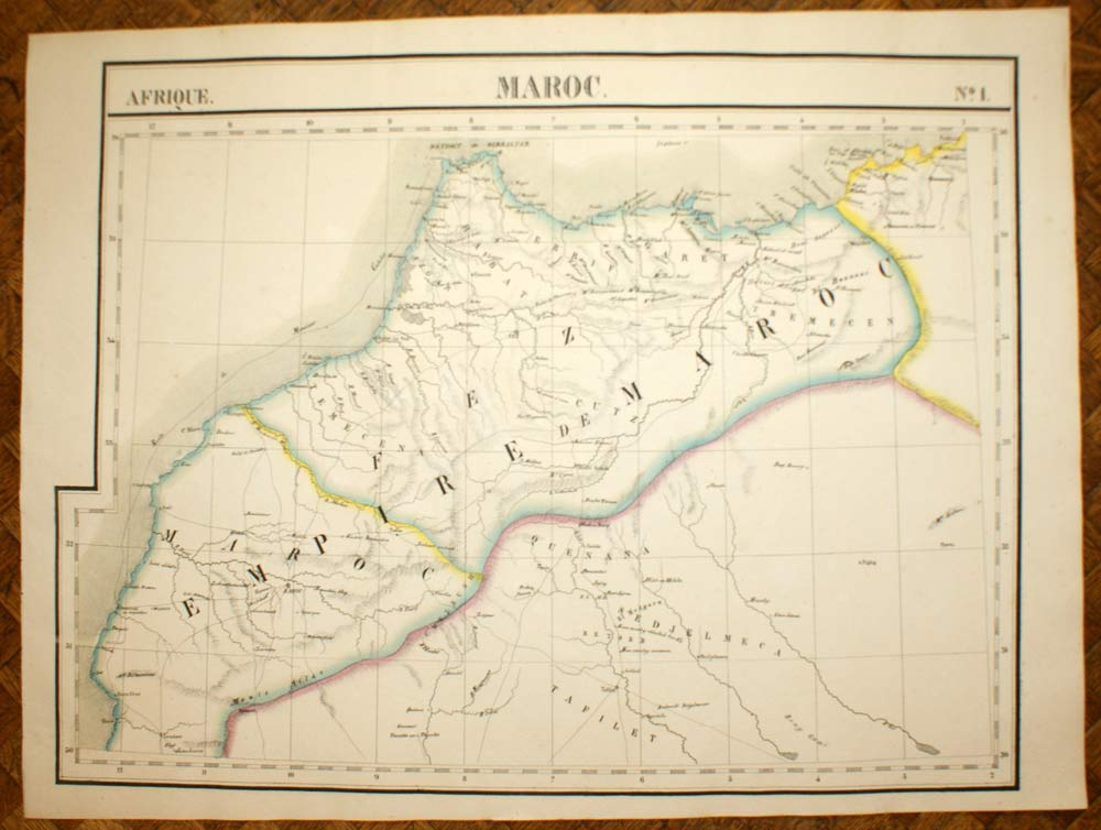 L Africa Cartina Geografica.L Impero Del Marocco Africa Carta Geografiche Antica Vandermaelen
